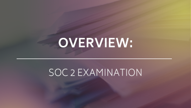 OVERVIEW: SOC 2 EXAMINATION