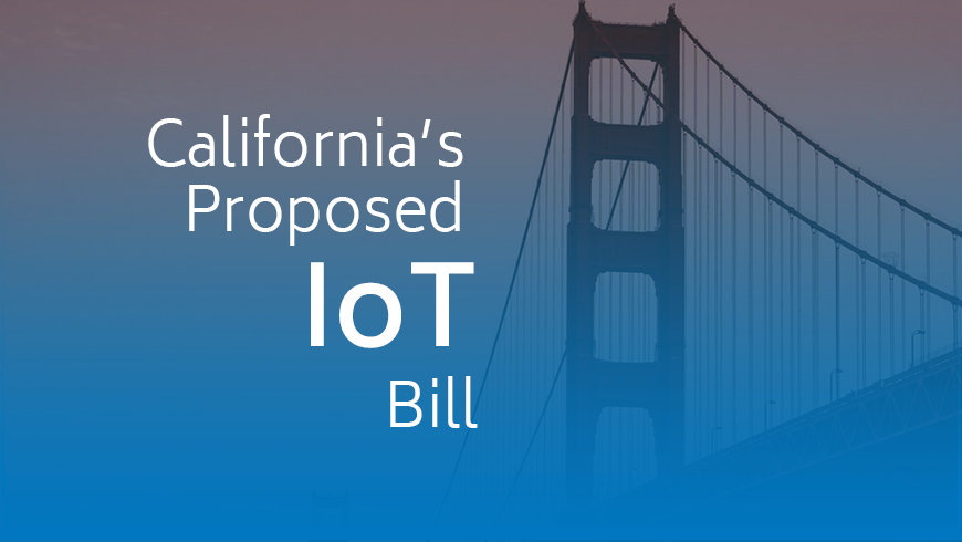 California's Proposed IoT Bill